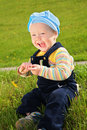 Free Child With Dandelion On Meadow Stock Photo - 6375560