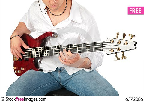 Free Young Man Play On Guitar Royalty Free Stock Image - 6372086