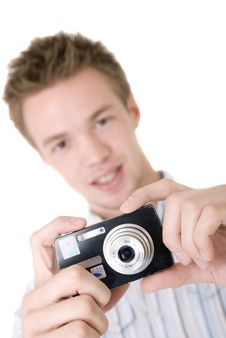 Free Man Taking A Picture Stock Photography - 6370062