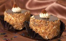 Miniature Chocolate Cakes Royalty Free Stock Image