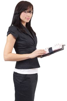Free Beautiful Brunette Businesswoman Stock Images - 6370554