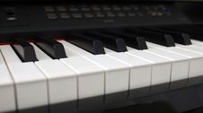 Free Digital Piano Keys Close Up Stock Photo - 6370910