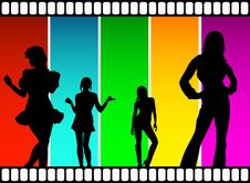 Free Movie Dancers Royalty Free Stock Photo - 6370995