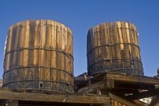 Free Dueling Water Towers Royalty Free Stock Photos - 6371508