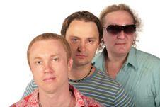 Free Three Men. Group Friends. Royalty Free Stock Photo - 6371655