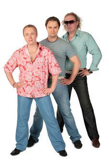 Free Three Standing Men. Music Group. Stock Image - 6371711