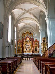 Free Inside Of Hofkirche In Luzern Stock Image - 6372091