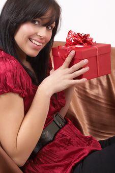 Free Portrait Of Beautiful Brunette Woman Stock Photography - 6372102