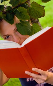 Free Woman With Book Under The Tree Stock Photo - 6372200