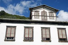 Old Traditional House In Lages Do Pico, Azores Royalty Free Stock Photos