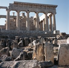 Ancient Greek Temple Of Aphaia Royalty Free Stock Images