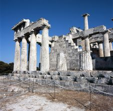 Ancient Greek Temple Of Aphaia Stock Photography