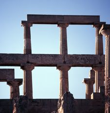 Ancient Greek Temple Of Aphaia Royalty Free Stock Image