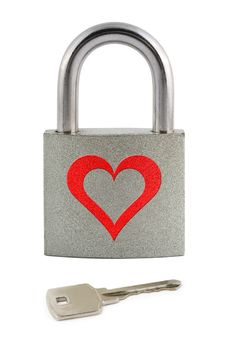 Free Lock With Heart And Key Stock Images - 6373764
