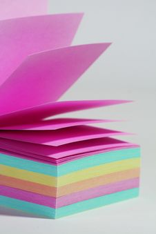 Free Color Note Paper Stock Image - 6373871