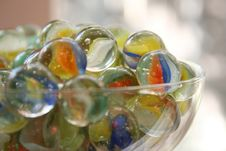 Free Glass Of Marbles Stock Photos - 6374003