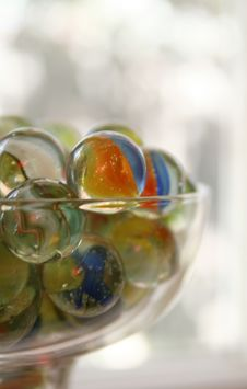 Free Close Up Of Glass With Marbles Royalty Free Stock Image - 6374006