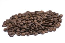 Free Coffee Beans On White Background Royalty Free Stock Image - 6374376