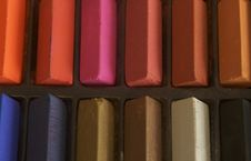 Free Coloured Pastels Up Close Royalty Free Stock Photo - 6374405