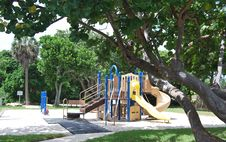 Free Empty Tropical Playground Royalty Free Stock Photos - 6374558
