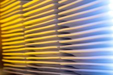 Abstract Of Multiple Stacks Of Plates Royalty Free Stock Image
