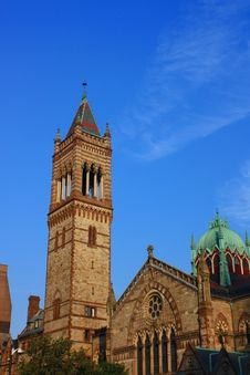 Church Tower Boston Royalty Free Stock Images