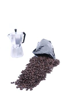 Free Coffee Spilled From Bag Stock Image - 6374931