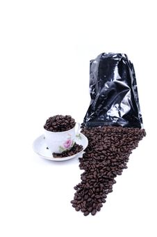 Free Coffee Spilled From Bag Royalty Free Stock Photography - 6374967