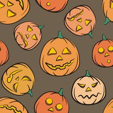 Free Vector. Halloween Seamless Multicolor Background Royalty Free Stock Photo - 6375745