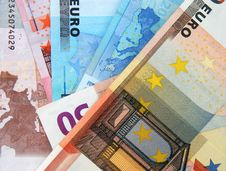European Euro Bank Notes Stock Images