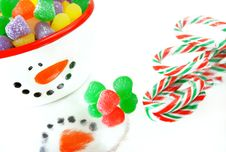 Free Christmas Candy Stock Photography - 6376362