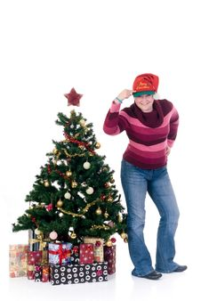 Free Happy Christmas Girl Royalty Free Stock Photo - 6376885