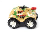 Free The Colorful Camouflage Plastic Toy Tank Royalty Free Stock Image - 6376956