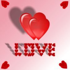 Free Two Hearts Royalty Free Stock Images - 6376959