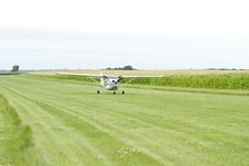 Free Small Airplane On Field Stock Photo - 6377430