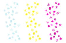 Free Snow Flakes Compositions On White Royalty Free Stock Photo - 6377855