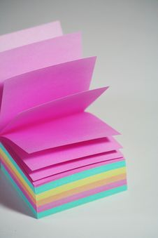 Free Color Note Paper Stock Image - 6377931