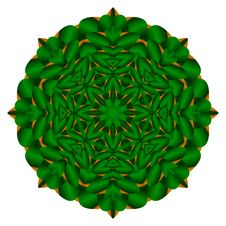 Green Compass Star Mandala Royalty Free Stock Image