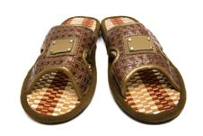 Beautiful Brown Slippers Stock Photos