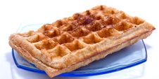 Free Waffle On Plate Royalty Free Stock Photos - 6378718