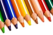 Free Beautiful Color Pencils Royalty Free Stock Photo - 6378735