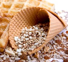 Free Waffles From Integral Wholegrain Royalty Free Stock Images - 6378739