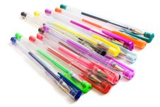Free Color Ballpoint Pens Stock Photography - 6378762