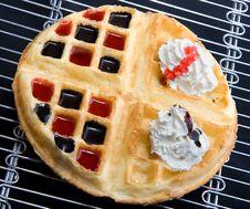 Free Waffle With Cream Stock Image - 6378791