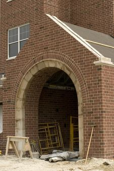 Brick Entryway Royalty Free Stock Images
