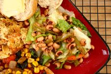 Free Black Eyed Pea Salad Stock Images - 6379284