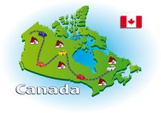 Traveling In Canada Stock Images