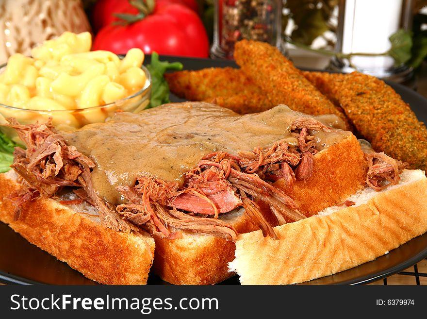 Open Beaf Sandwich