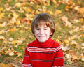 Free Little Boy In The Fall Stock Photography - 6384452