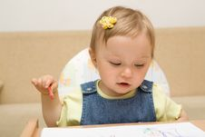 Free Baby Drawing Stock Photo - 6380130